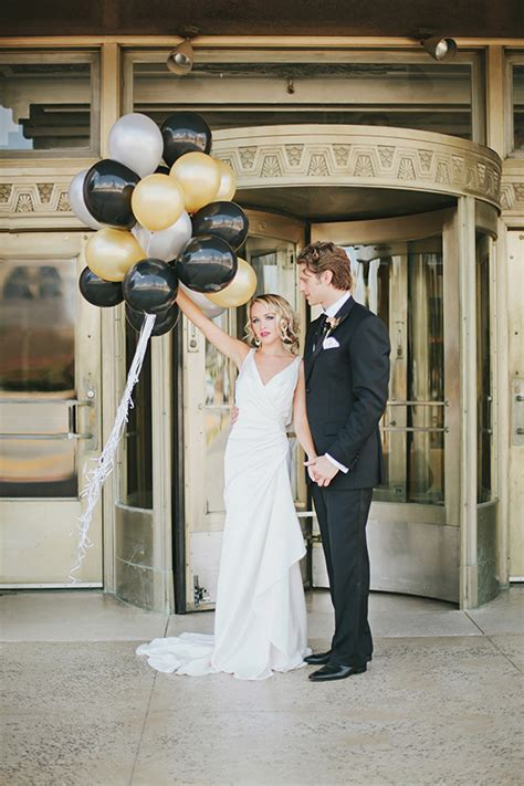 Black & Gold Art Deco Wedding Inspiration  100 Layer Cake