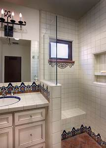 Spanish, Tile, In, Hall, Bathroom, Accents, A, Neutral, Color