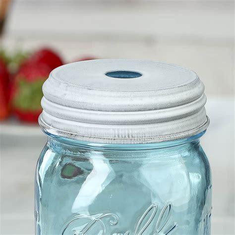 jar lid crafts white washed galvanized mason jar lid with hole jar lids basic craft supplies craft supplies