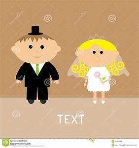 Cute Wedding Couple. Vector Card. Invitation. Royalty Free ...