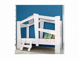Lit Cabane 90x190 : lit cabane safari 90x190 blanc 1314 9 vente de lit enfant conforama ~ Teatrodelosmanantiales.com Idées de Décoration