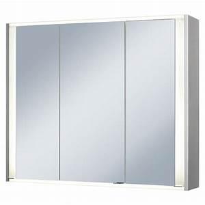 Spiegelschrank 3 Türig Mit Beleuchtung : riva spiegelschrank faris 3 t rig breite 83 5 cm mdf mit beleuchtung led aluminium ~ Bigdaddyawards.com Haus und Dekorationen