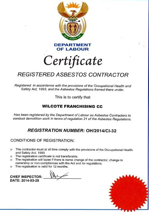 asbestos removal repair services  south africa