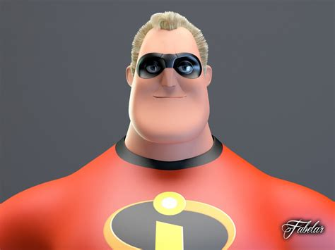 Mr Incredible 3d Model Max Obj 3ds Fbx C4d