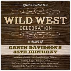 Wording For Baby Shower Thank You Notes by Wild West Celebration Birthday Invitations Paperstyle