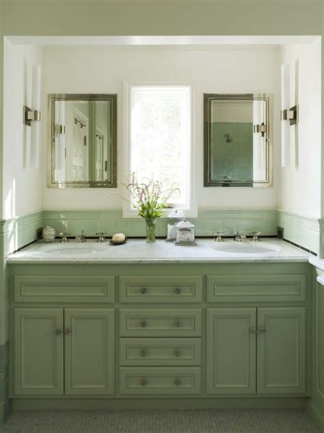 Green Bathroom Backsplash by Interesting Bathroom Vanity Cabinets For Bathroom