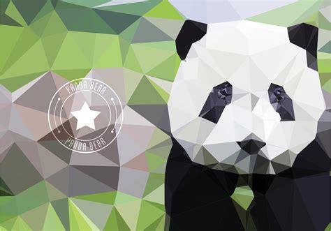 Polygon Animal Wallpaper - polygonal panda free vector 2160 free downloads