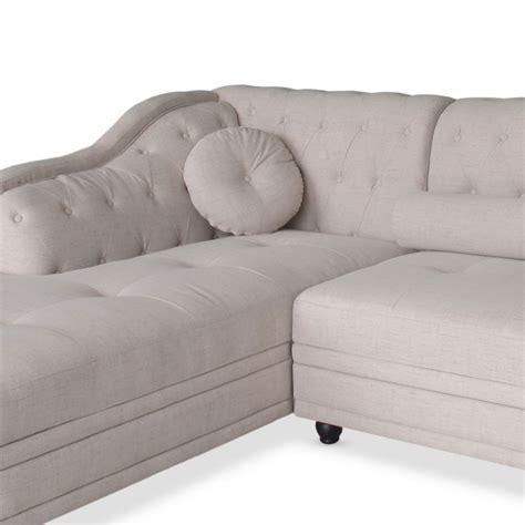 canapé d angle beige canapé d 39 angle beige en tissu design pas cher déco