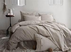 Linge De Lit Lin : linge de lit en lin naturel housse de couette en lin naturel la malle des anges la malle ~ Teatrodelosmanantiales.com Idées de Décoration