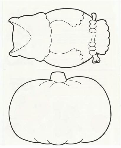 Owl Printable Template Coloring Templates Halloween Pages