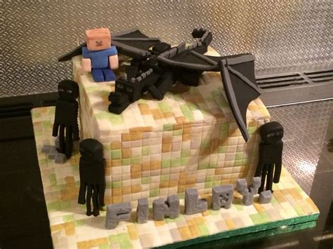 Ee  Minecraft Ee   Ender Dragon Cake For Finlays Th  Ee  Birthday Ee
