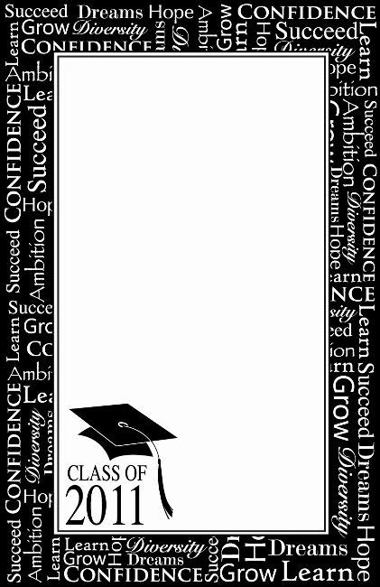 graduation border design  cliparts