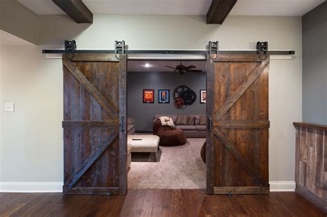 home floor plans with basements basement barn doors rustic basement