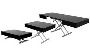 deco in table basse relevable extensible noir laquee smart smart noir