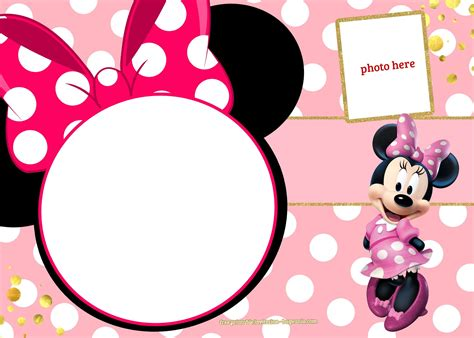 Minnie Mouse Template Invitation by Cool Free Printable Minnie Mouse Invitation Template