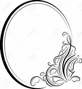 Elegant Oval Frame Clipart