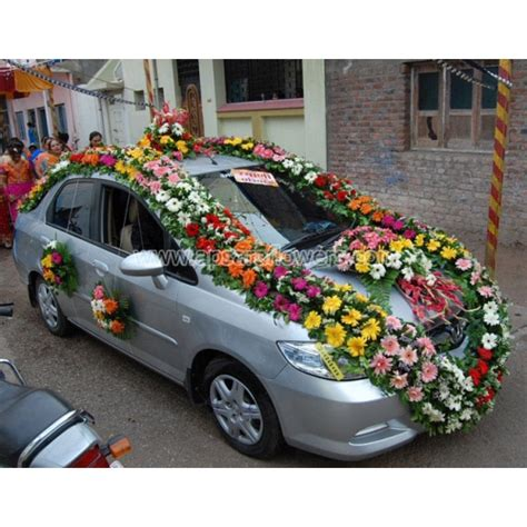 wedding car decoration apscar001