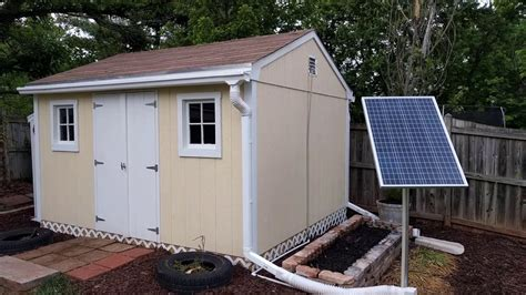 shed up solar power tool shed set up