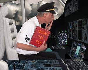 Funny Airline Pilot Learn To Fly Stock Image - Image of ...