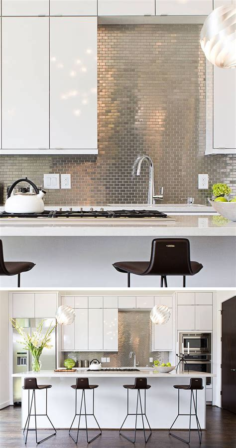 Kitchen Design Idea   Install A Stainless Steel Backsplash