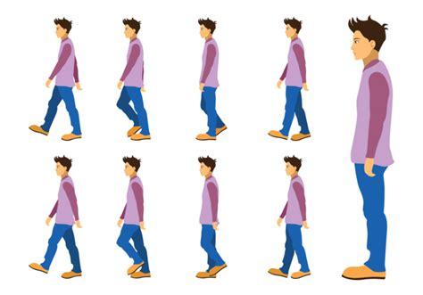boy walking cycle   vectors clipart