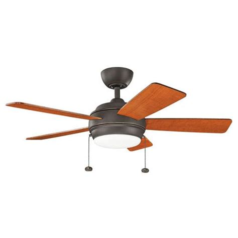 starkk olde bronze 42 inch led ceiling fan with light kit