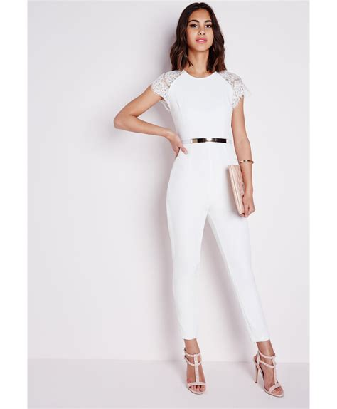 white sleeve jumpsuit white jumpsuit with sleeves trendy clothes