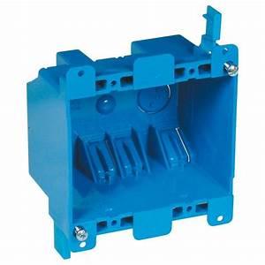 Double Gang Box Wiring Diagram : carlon 2 gang 25 cu in blue pvc old work switch and ~ A.2002-acura-tl-radio.info Haus und Dekorationen