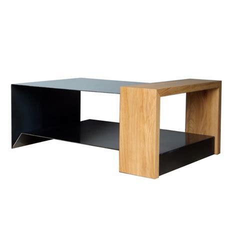 table basse en m 233 tal et bois konnect atelier mobibois