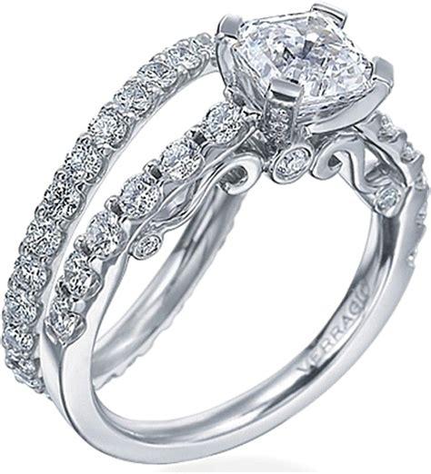 verragio round brilliant diamond detailed engagement ring
