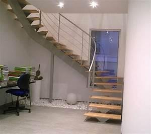 Escalier 3 4 Tournant : escalier 2 4 tournant limon central m tallique atelier ~ Dailycaller-alerts.com Idées de Décoration
