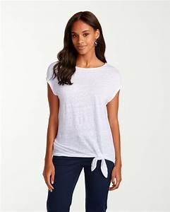 Linnea Jersey Linen Side-Tie T-Shirt