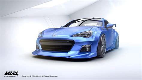 subaru brz black body kit ml24 automotive design prototyping and body kits