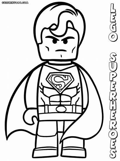 Lego Superman Coloring Pages Superheroes Superhero Clipart