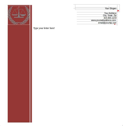 sample letterhead template   documents