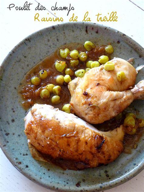 poulet rôti au raisin blanc sauce au cidre une cuillerée