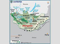 Mongolia Large Color Map