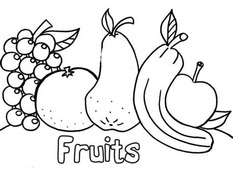 Coloring Fruit by Get This Fruit Coloring Pages 61145