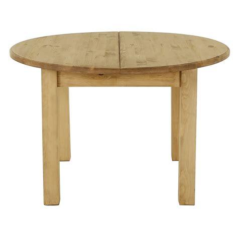table de cuisine avec rallonge table ronde pin massif extensible 120cm avec rallonge