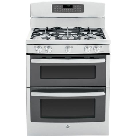 ge ranges profile 6 8 cu ft oven gas range with self cleaning convection lower oven in