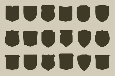 11 vector badge shapes images vector shield shape shield shapes badge transparent and emblem