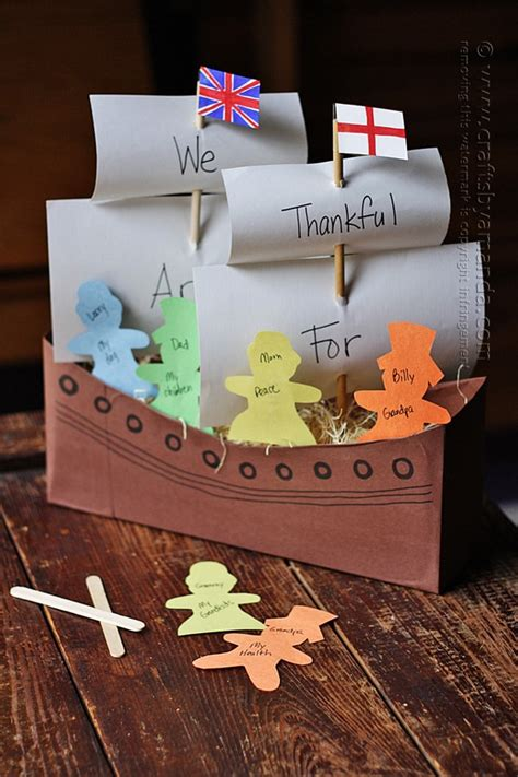 cereal box mayflower crafts by amanda 836 | cereal box mayflower by amanda formaro 1