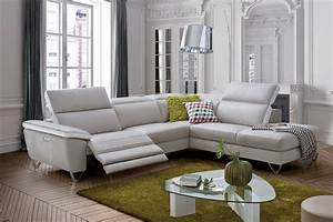 Nashville relaxation electrique canape cuir d39angle et for Canape cuir angle relax electrique
