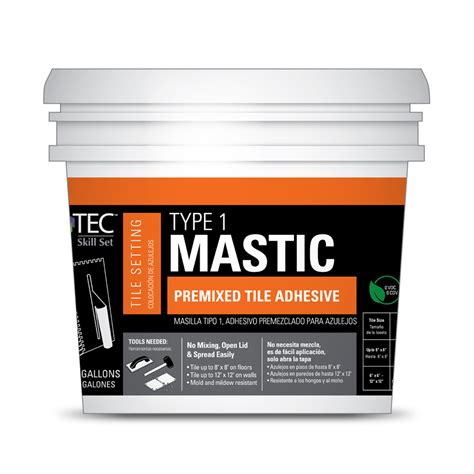 Premixed Thinset For Glass Tile by Shop Tec Skill Set 3 5 Gallon Ceramic Flooring Adhesive At