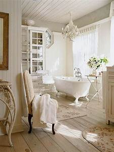 26 adorable shabby chic bathroom decor ideas shelterness for Kitchen colors with white cabinets with derouleur papier wc