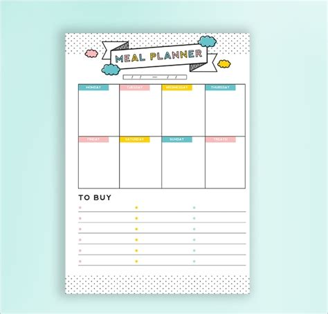 daily budget planner template   psd ai eps