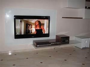 TV Mobel Mit Glasruckwand Visioglas
