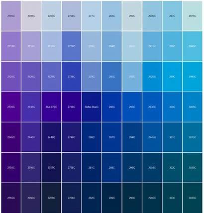 Pantone Chart Match Colour Matching Blues Pink
