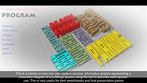 Sketchup  3d Text Tool To Create Volumetric Diagrams Of