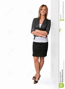 Young Woman Standing stock photo. Image of businesswoman ...